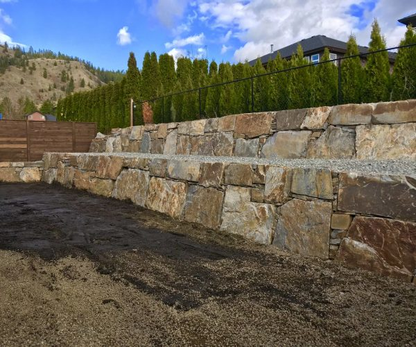 rock walls with trees